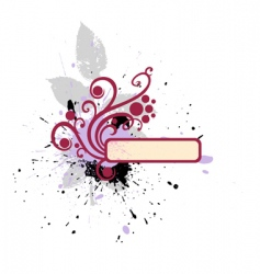 frame with flourishes vector image