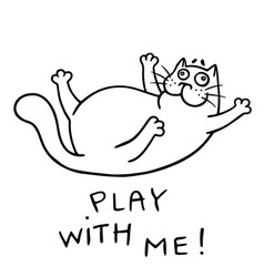Funny cat wants to play isolated vector