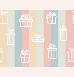 gift seamless pattern color simple present box vector image