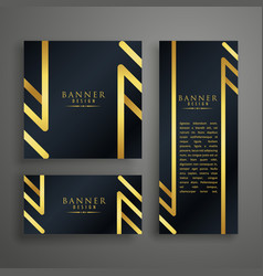 golden premium invitation card design template vector image