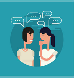 gossiping girls flat vector image