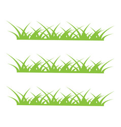 grass icon design template vector image