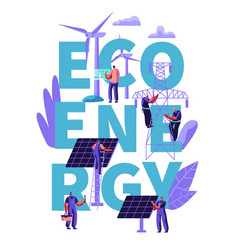 Green eco alternative clean energy concept ecology vector