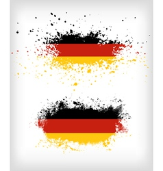 Grunge german ink splattered flag vector image