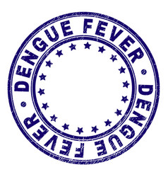 Grunge textured dengue fever round stamp seal vector