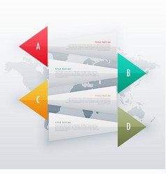 Infographic creative banners four steps workflow vector