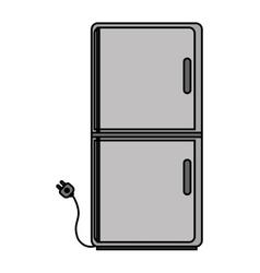Isolated fridge machine design vector