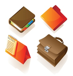 Isometric icon of work items vector image