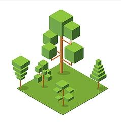 Isometric tree 380 vector
