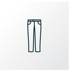 jeans icon line symbol premium quality isolated vector image