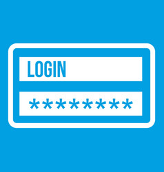 Login and password icon white vector