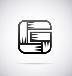 Logo for letter G vector image