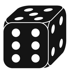 lucky dice icon simple style vector image