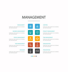 Management infographic 10 option concept manager vector