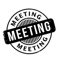 meeting rubber stamp vector image