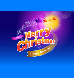 merry christmas design a vector image