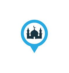 mosque colorful icon symbol premium quality vector image