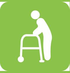 Old man walking vector