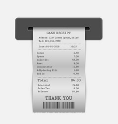 paper sales printed receipt vector image