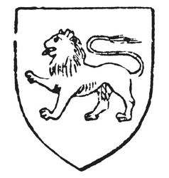 Passant lion is early as the 12th century vintage vector
