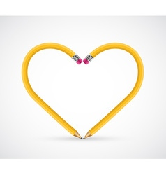 Pencil heart shape vector