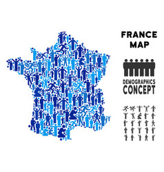 people france map vector image