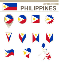 Philippines flag collection vector