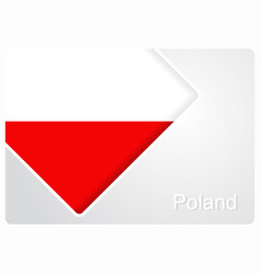 Polish flag design background vector
