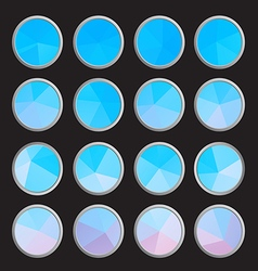 polygon colors set buttons vector image