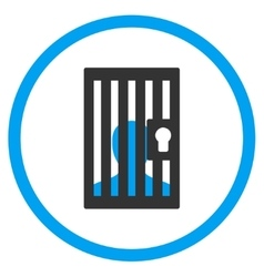 Prison Circled Icon vector