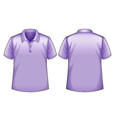 Purple shirts vector