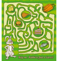 Rabbit Maze Game vector image