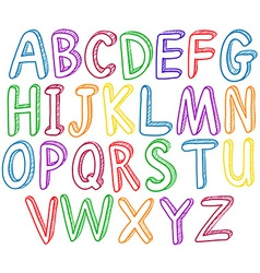 Rainbow alphabet vector image