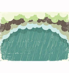 Raining clouds on old paper texturevintage back vector