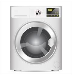 Realistic washing machine vector