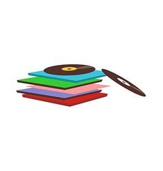 Record are piled up vector