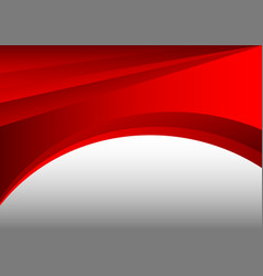 Red and gray abstract waves background vector