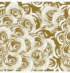 roses monochrome seamless pattern vector image