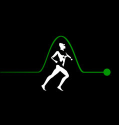 Runners pulse vector