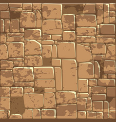 Seamless background texture brown stone wall vector