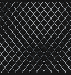 seamless realistic chain link fence background vector image