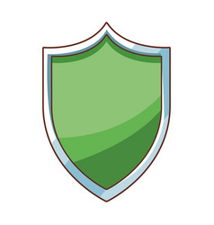 security shield cartoon vector image