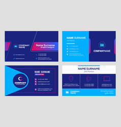 set business card templates stationery design vector image