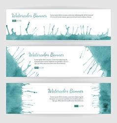Set of watercolor banners vector