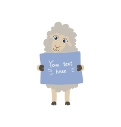 Sheep With The Template For The Message vector image