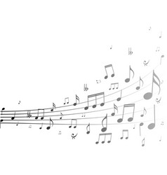 silhouette music notes background vector image