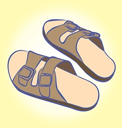slippers for relaxing and easy walks on the beach vector image