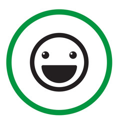Smile icon in the circle vector