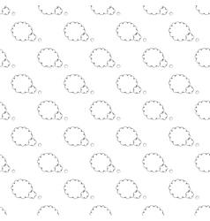 Speech bubble pattern seamless vector
