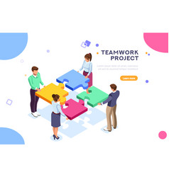 teamwork project vector image